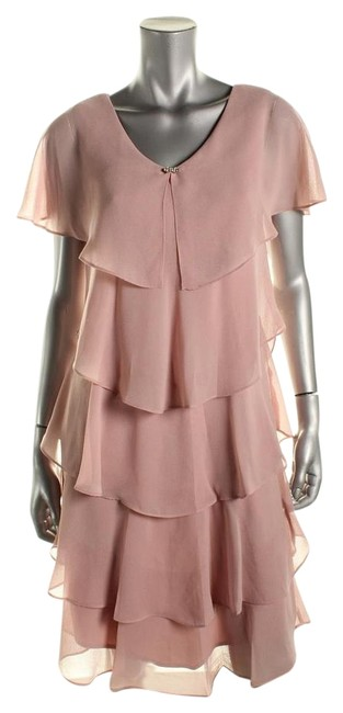 Item - Pink Above Knee Cocktail Dress Size Petite 8 (M)