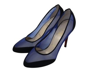 Christian Louboutin Royal Blue and Black Pumps