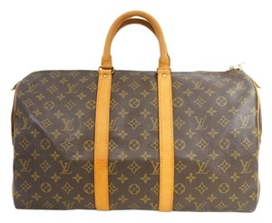 Louis Vuitton Keepall 45 Bandouliere Monogram Canvas Travel Bag