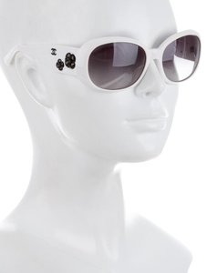 Chanel 5113 Camellia White Frame Sunglasses