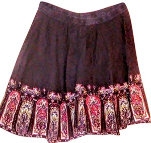 Derek Heart Elastic Skirt Black