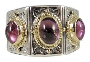 Konstantino Konstantino Sterling Silver 18K Yellow Gold Pink Tourmaline Ring
