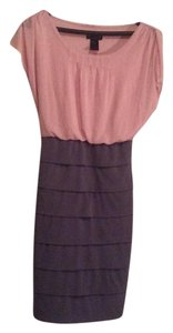 En Focus Studio short dress Pink/ grey on Tradesy