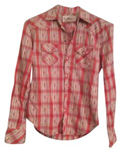 True Religion Button Down Shirt Red/ White