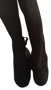 Cole Haan Over The Knee Tall Boot Black Suede Boots