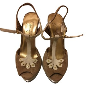 Jessica Simpson White/Tan Sandals
