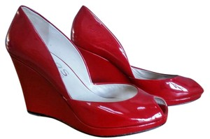 Michael Kors Patent Leather Wedge RED Wedges