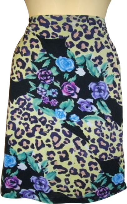 Guess Floral Casual Skirt Multicolored