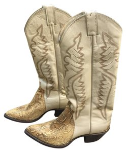 Justin Boots Leather Cowboy cream, beige Boots