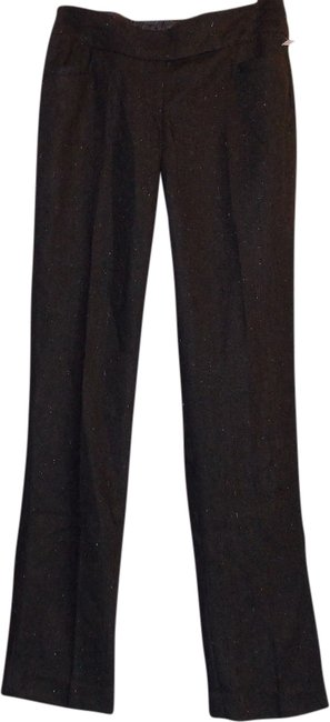 The Limited Straight Pants Brown with black & misc small colors