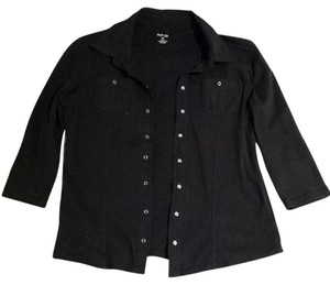 Style & Co Button Down Shirt Black