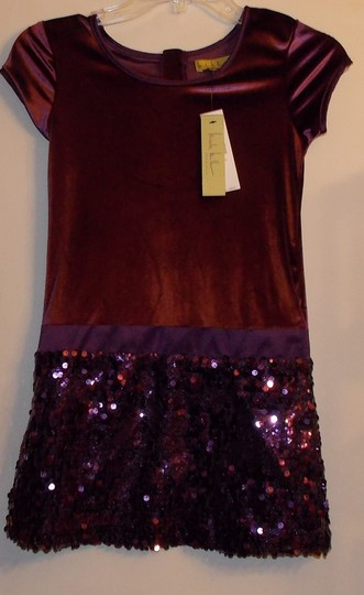 Nicole Miller Purple Girls Large Formal Bridesmaid/Mob Dress Size 12 (L)