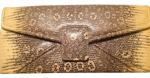 Kara Ross Python Black/Ivory Clutch