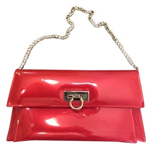 Beijo Red Clutch