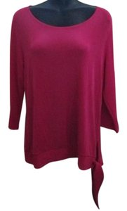 Chico's Hot Asymmetric Fall Bold Top Pink