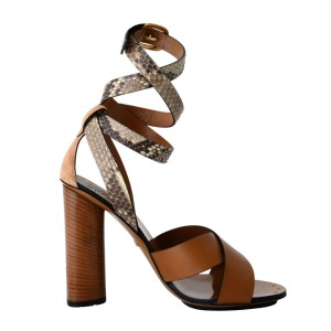Gucci Leather Beige / Brown Sandals