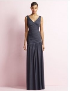 Jenny Yoo Onyx Full Length Sleeveless Chiffon Dress