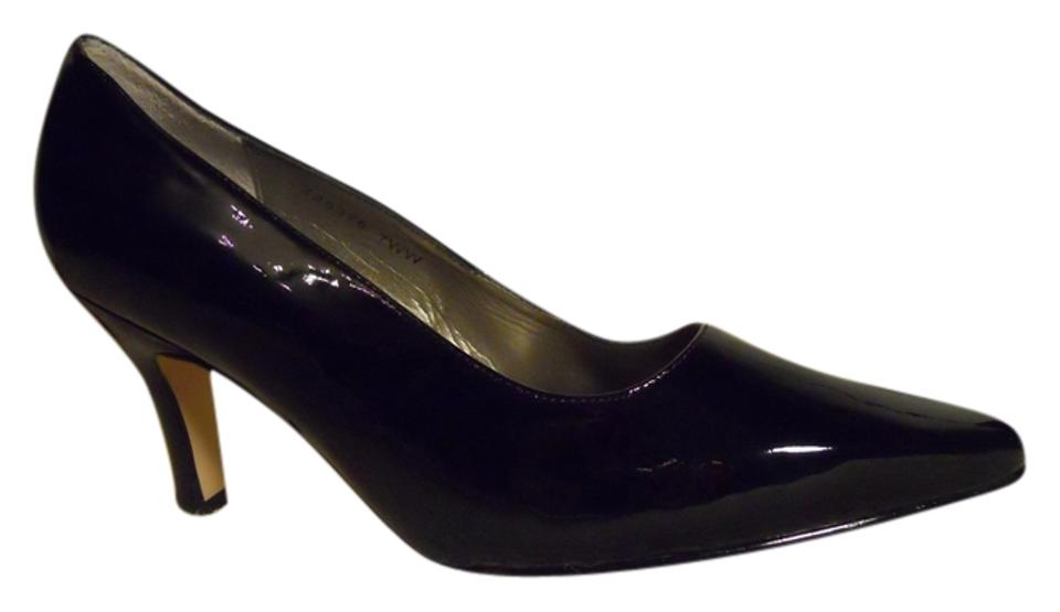 48ca448552 Fitzwell Black Patent Leather Pumps Size US 7 Extra Wide (Ww, Ee ...