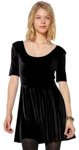 Urban Outfitters short dress BLACK Skater Velvet on Tradesy