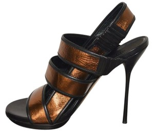 Gucci Leather Bronze Sandals