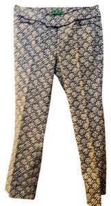 Lilly Pulitzer Cropped Capri/Cropped Pants Ivory & navy