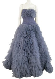 Marchesa Beaded Evening Gown Ruffles Tulle Dress