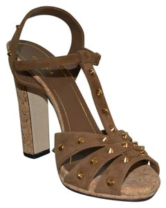 Gucci Leather Brown Sandals