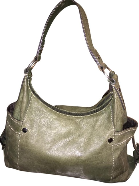 Item - Not Sure Exact Color Army Green Or Olive Green Leather Shoulder Bag