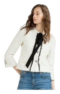 Zara White/black Blazer
