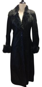 Tahari Warm Shearling Chic Fur Coat