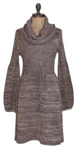 Calvin Klein short dress TAUPE Marled Sweater Knit on Tradesy