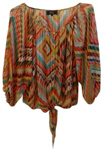 Status by Chenault Size M Polyester Top Multi-colored