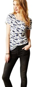 Postmark Whales Watercolor T Shirt White and blue