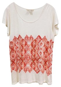 Lucky Brand T Shirt White, Ivory, Red, Orange