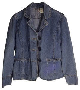 Bill Blass Vintage Blue Denim Faded Blue Womens Jean Jacket