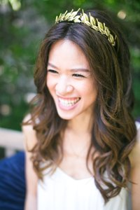 Gold Leaf Laurel Crown Headband Tiara