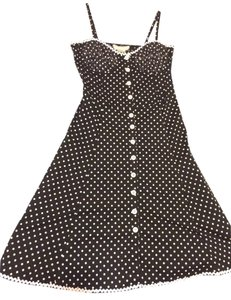 Velocity short dress Black Polka Dot on Tradesy