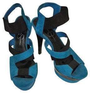 Jessica Simpson Black, blue Platforms