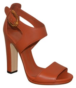 Gucci Leather New Rust Sandals