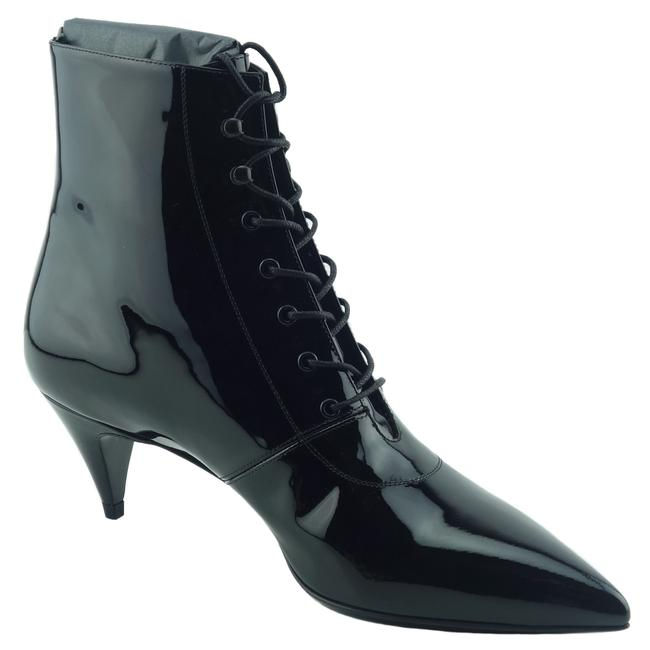 Item - Black Ysl 351930 Women's Cat 50 Patent Leather 39 Boots/Booties Size US 9 Regular (M, B)