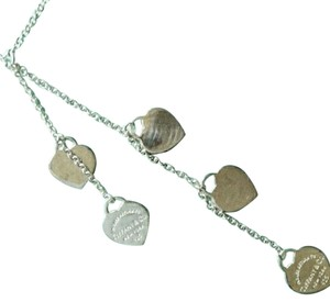 Tiffany & Co. Tiffany & Co 5 Hears drop necklace with pouch