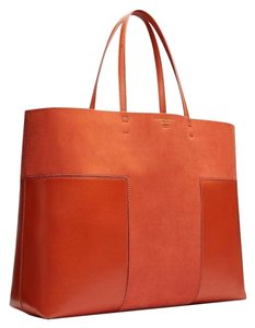 Tory Burch Suede Leather Tote in Rust