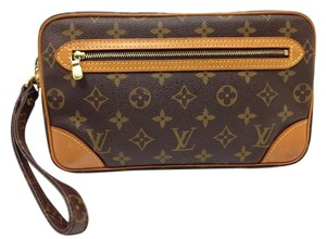 Louis Vuitton Marly Brown Clutch