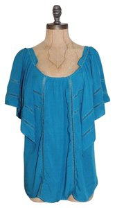 Anthropologie In Flight The Addison Story Top BLUE