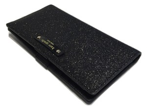 Kate Spade New York Black Glitter Clutch