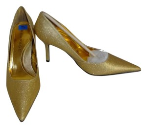 Rampage Special Occasion 2.5 Inch Heels GOLD Pumps