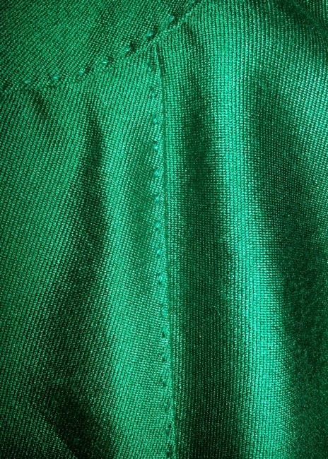 Albert Nipon Wool/Silk Blend Slimming Skirt Green