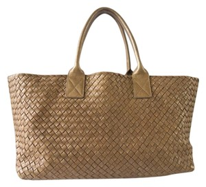 Bottega Veneta Cabat Tote in Gold Ottone