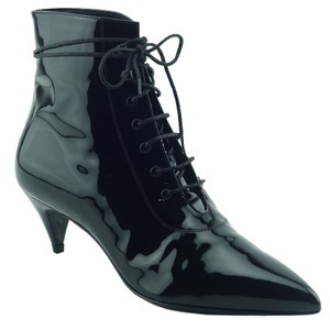 Saint Laurent Ysl Patent Leather 351930 Black Boots