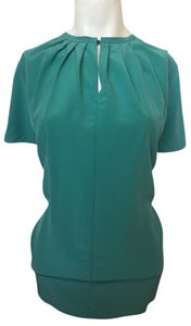 Burberry London Formal Teal Silk Burberry Top